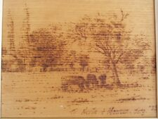 Pair of Pyrography pictures