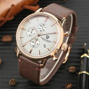 PAGANI DESIGN 316L Mens Quartz Date Sports Military Wrist Watch Chronograph Gift