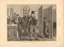 1873 antica stampa-Elezioni Parlamentari nel XIX secolo