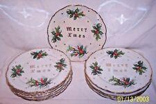 12 ANTIQUE TMJ Supreme Quality HOLLY TRIM MERRY XMAS ( MERRY Christmas ) Japan
