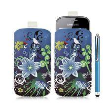 Housse coque étui pochette pour Samsung Galaxy Gio S5660 avec motif HF09+ stylet