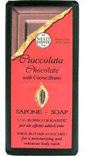 Nesti Dante Bar Soap Dark Chocolate Cocoa Bean Natural Body Bath Shea Butter and