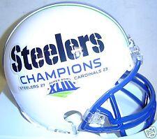 Pittsburgh Steelers Super Bowl XLVIII 43 Champions White Riddell Mini Helmet
