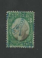 RB3a  ( Violet Paper )  3-Cent PROPRIETARY Used