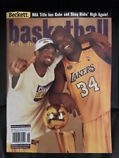 BECKETT BASKETBALL- Aug. 2000 - KOBE & SHAQ - NBA CHAMPIONS