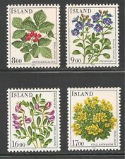 Iceland #602-605 (A188) VF MNH - 1985 8k to 17k Flowers