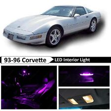 1993-1996 Chevrolet Corvette C4 Purple Interior LED Lights Package Kit 25pcs