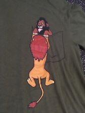 Precipocket T-shirt Teepublic Sz S Lion King Scar Mufasa 100% Cotton Olive