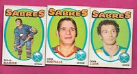 1971-72 OPC SABRES LUCE RC + BARRIE  RC + ROBITAILLE  RC  CARD  (INV# C1654)