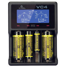 XTAR VC4 LCD Screen USB Battery Charger 18650 26650 32650 14500 AA AAA LD489 H7T