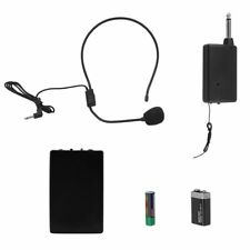 VHF Stage Wireless Headset Microphone System Mic FM Transmitter Receiver EK