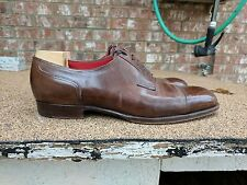 Saint Crispin's Shoes Brown Leather Shoe Derby Captoe 11.5 StC EG G&G Vass EB