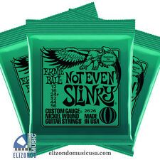 Ernie Ball 3 Pack 2626 Nickel Not Even Slinky Tuning Electric Guitar Strings
