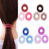 3PC Elastic Spiral Coil Hair Ties Ponytail Holders Phone Cord Hair Ring Rope 4cm