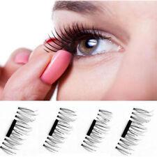 False Eyelashes Natural Eye Lashes Extension Handmade 4 Pcs/1 Pair 3D Magnetic