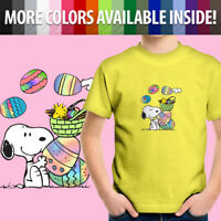 Peanuts Snoopy Woodstock Easter Eggs Spring Cute Toddler Kids Tee Youth T-Shirt