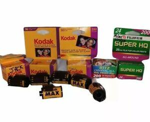 10 Rolls Kodak Fuji & Ritz 200 ISO 35mm Film Expired