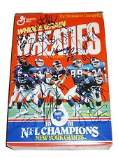 NFL NY GIANTS 1991 HAND SIGNED AUTOGRAPHED WHEATIES TEAM CEREAL BOX WITH COA