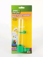 Wild Harvest Bird Tube Feeder Lightweight Clear Hanging for Water or Food New
