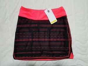1 NWT UNDER ARMOUR WOMEN'S SKORT, SIZE: X-SMALL, COLOR: CORAL/BLACK (J120)