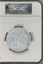 2013 P 25c 5 oz Silver ATB America the Beautiful - Great Basin SP68