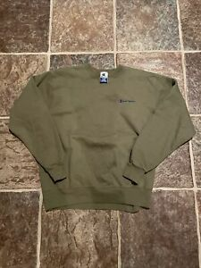 Vintage Champion Sweatshirt Crewneck Size XL Green 90s Embroidered Spell Out