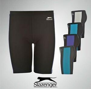 Boys Slazenger Swimming Jammers Shorts Swimwear Trunks Sizes Age 7-13 Yrs
