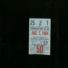 8-7-1964 New York NY Mets @ Philadelphia Phillies Baseball Ticket