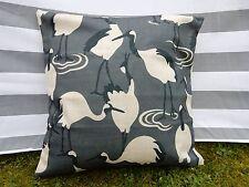 Bird Pattern Cushion Cover, Designer, Retro, Vintage, Crane, Grey, Modern