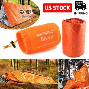 Outdoor Emergency Sleeping Bag Thermal Waterproof Survival Camping Travel Bag US