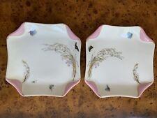 2 Antique Haviland Limoges France,Handpainted Antique Plate With Butterflies