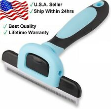 Grooming Brush For Pet Dog Cat Deshedding Tool Rake Comb Fur Remover Reduce Hair