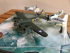 Corgi Wwii diorama featuring B-17 Sally B, P-51 Mustang & P-47 Thunderbolt