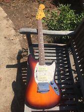 Fender Mustang Modern Player P90s sunburst rare NICE