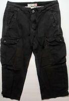 Polo Jeans Ralph Lauren Womens Cargo Crop Military Capri Shorts Size 8 Black