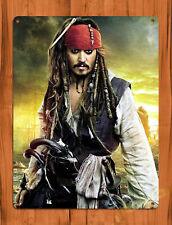 """TIN SIGN """"Jack Sparrow Sunset"""" Depp Pirates of the Caribbean Disney Decor"""