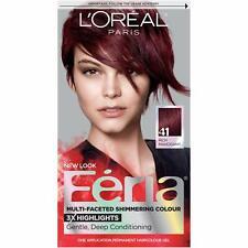 L'oreal Feria Crushed Garnet, 41 (Rich Mahogany) Permanent Hair Color, Dye 1 Kit