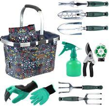 Garden Tools Set with 11 Pieces Hand Tools for Women, Garden Tools Bag
