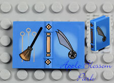 NEW Lego Minifig Blue QUIDDITCH BOOK - Harry Potter Friends 2x3 Diary 4719 4726