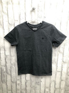 NWT! CK Calvin Klein Boys' Solid V-Neck Tee, Classic Charcoal Heather SIZE 5