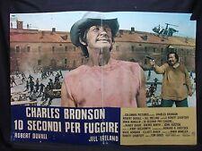 FOTOBUSTA CINEMA - 10 SECONDI PER FUGGIRE - C. BRONSON - 1975 - DRAMMATICO - 03