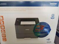 Brother HL-L 5000D Laserdrucker Drucker USB ink.(XXL Toner kompatible) NEU-GERÄT