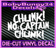 CHUNK NO CAPTAIN CHUNK Rock Metal Band Logo Laptop Truck Car Decal Vinyl Sticker