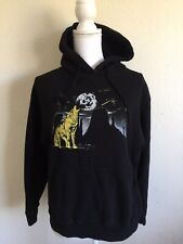 b937a0e0168 brandy melville black fleece Christy wolf howling hoodie sweatshirt sz S M