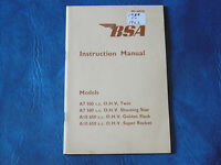 NOS BSA Instruction Manual for  A models 1958 to 1963    4078