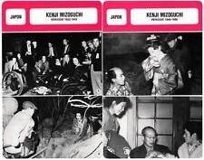 FICHE CINEMA x2 : KENJI MIZOGUCHI DE 1922 A 1956 -  Japon (Biographie/Filmo)