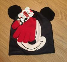 MICKEY MOUSE ~ Winter Hat Gloves Set ~ Child One Size Fits Most ~  NEW