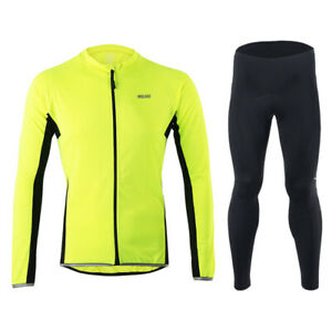 Long Sleeves Cycling Jersey Sets MTB Bike Suits Bicycle Padded Pants Breathable