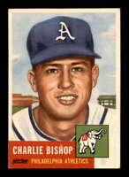1953 Topps #186 Charlie Bishop RC EX/EX+ X1551878