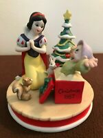 "Disney Christmas LE Figurine1987 in:""Snow White's Surprise"" NIB Dopey #12746"
